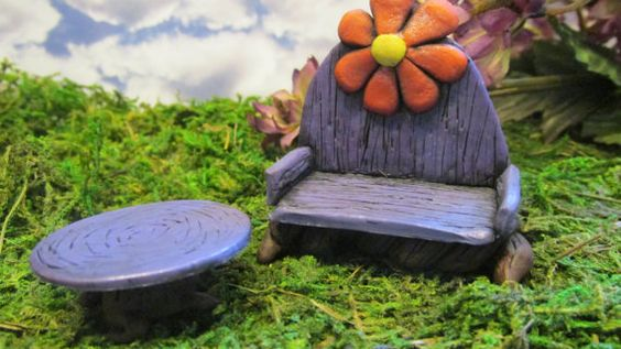Hey, I found this really awesome Etsy listing at https://www.etsy.com/listing/193744995/fairy-garden-flower-bench-and-table-set
