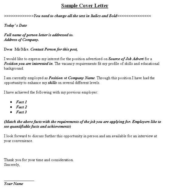 Sample Cover Letter Image Cover Latter Sample Pinterest - cover letter sales associate