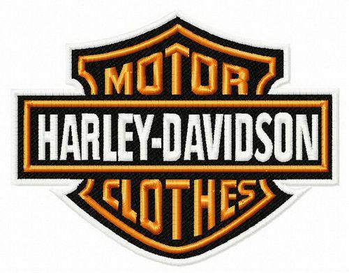 Motor Clothes Logo Embroidery Design Harley Davidson Decals Harley Davidson Birthday