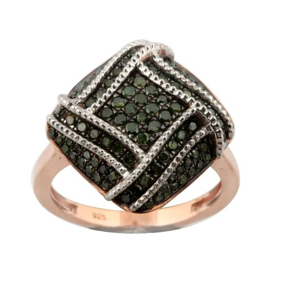 Fabulous 0.76 Carat Real Green Diamond Gigantic Ring, 925 Sterling Silver  #PrismJewel #Gigantic #Birthday