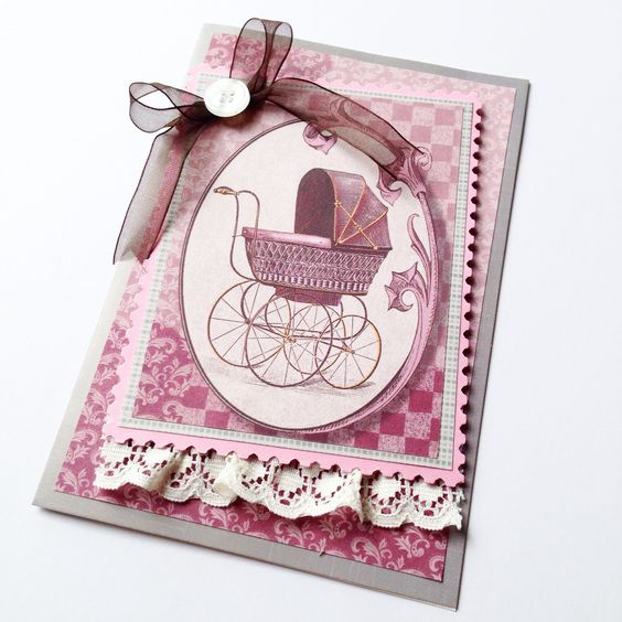 A gorgeous card made for a first time grandmother - to congratulate her on her first baby granddaughter! Adorable! Made by Pammypumpkin!