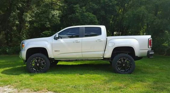 2015 GMC Canyon All Terrain lifted. My future ride fingers XX'd they get the diesel in them for 2016
