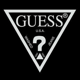 Guess Black Triangle Logo Denim Pinterest Logos