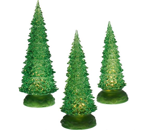 Illuminate your life. Valerie Parr Hill presents this set of three sparkling trees. QVC.com