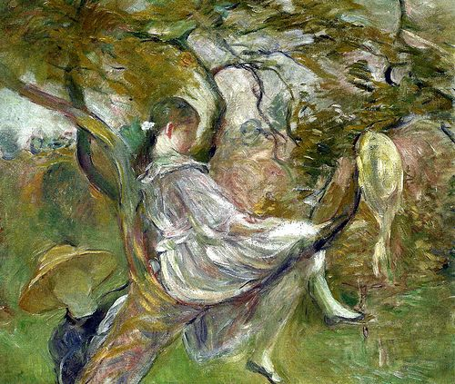 Berthe Morisot - In the Apple Tree, 1890 (Musee Marmottan Monet - Paris France) at Museo Thyssen-Bornemisza Madrid Spain