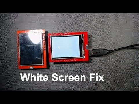 How To Fix White Screen Of Tft Touch Screen With Arduino Tft