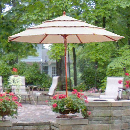 11 Ft Triple Tier Umbrella Replacement Canopy Top Cover