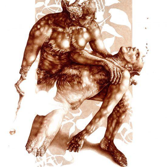 Sacrifice And Sanctity Blood Paintings By Vincent Castiglia