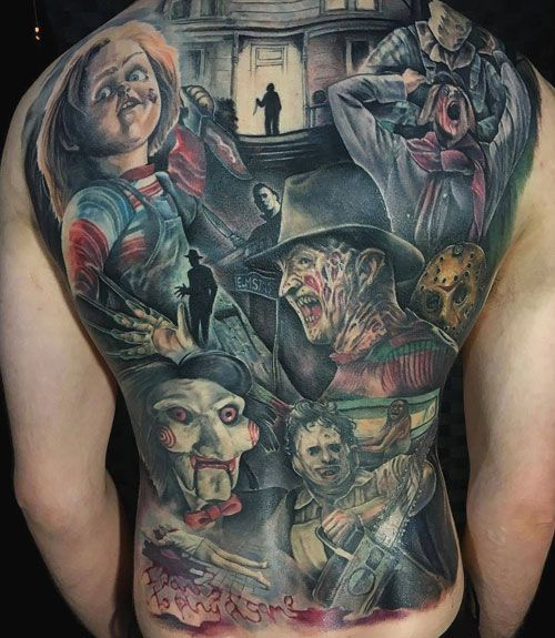 101 Badass Tattoos For Men Cool Designs Ideas 2020 Guide Horror Movie Tattoos Movie Tattoos Scary Tattoos