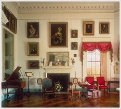 Jefferson loved music, and he played the violin while his daughter played the London-made harpsichord in Monticello's lofty parlor, with the light of its many windows reflected by the huge mirrors--enlightenment indeed.  Thomas Jefferson's Monticello
