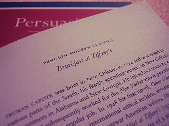 Amélie's Little Secrets : Breakfast at Tiffany's & Persuasion