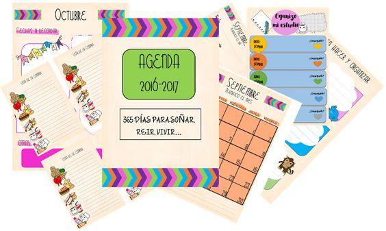 agenda, 2017, imprimible, editable, planificadores, gratis, descargar