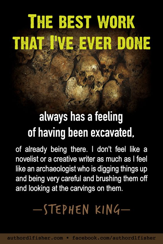 Stephen King has been keeping us scared and creeped out for over 50 years. #WritingInspiration #StephenKing #how_to_write #skulls #writing