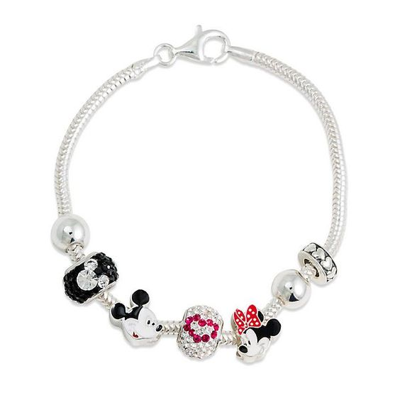 expressions for helzberg 174 mickey minnie mouse bracelet