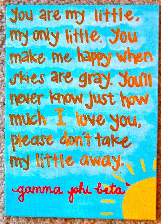 You Are My Little Craft.  Gamma Phi Beta.