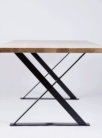 Merveilleux Side View Of The Alexandria Dining Table. Made From Solid American White  Oak Timber And Wood And Black Steel Legs. Available In Our Online Store.