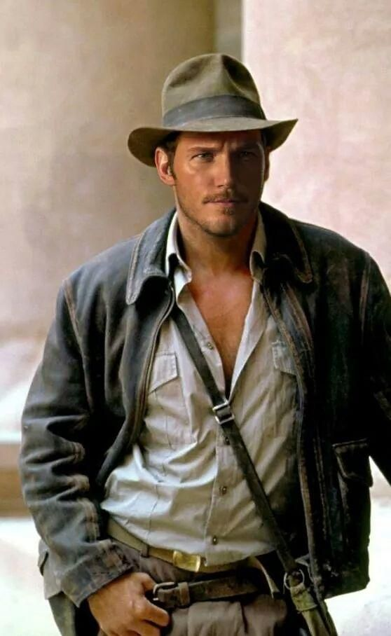 Chris Pratt as Indiana Jones...would be the first time I'd watch another one of those movies willingly. ;-)