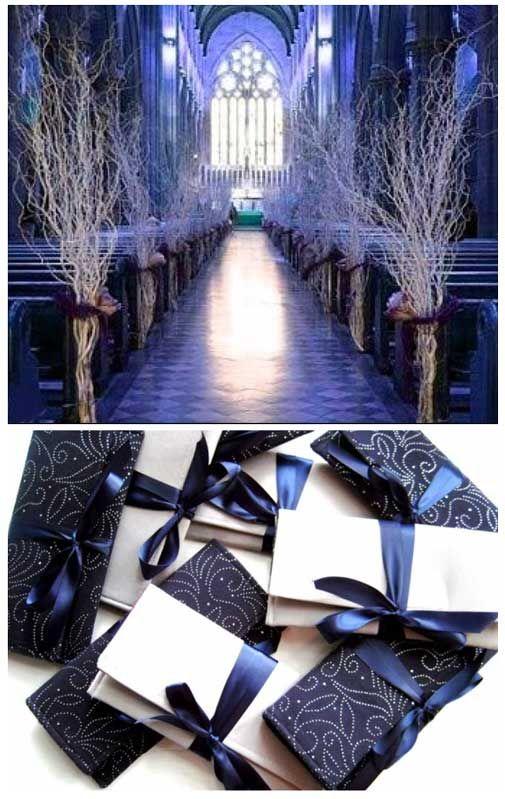 Midnight Blue Wedding And Aisle Decorations On Pinterest
