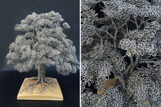 Tree made from wire