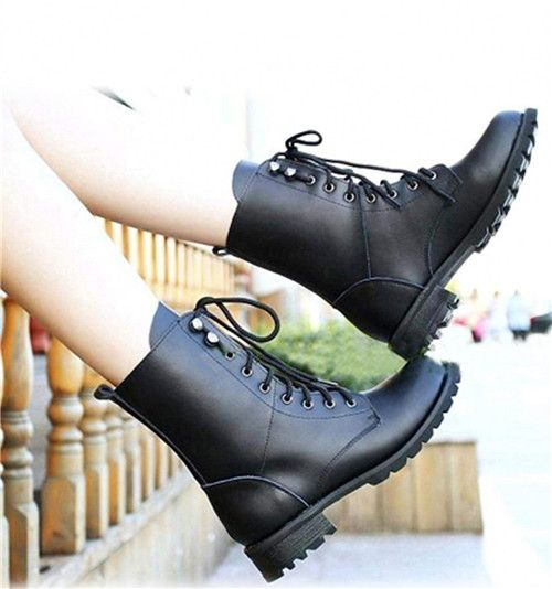 (Buy here: http://appdeal.ru/cyv ) TOYL Cool Fashion Winter Woman Ladies Motorcycle Boots Vintage Combat Army Punk Goth Ankle Shoes Biker PU Leather Short Boot for just US $31.26