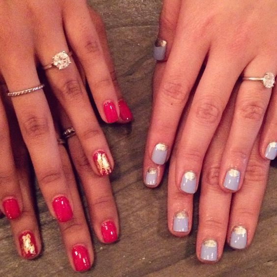 We ❤️ these fun manicures by @paintboxnails! Thanks to our New York brides for helping us kick off The Knot Venue Concierge! #theknotnailedit #theknotrings