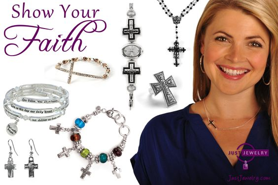 Wearing Just Jewelry's faith inspired necklaces, earrings and bracelets are great ways to show your devotion to your faith while adding accessories to your wardrobe. These designs look fabulous no matter where you are go this season!