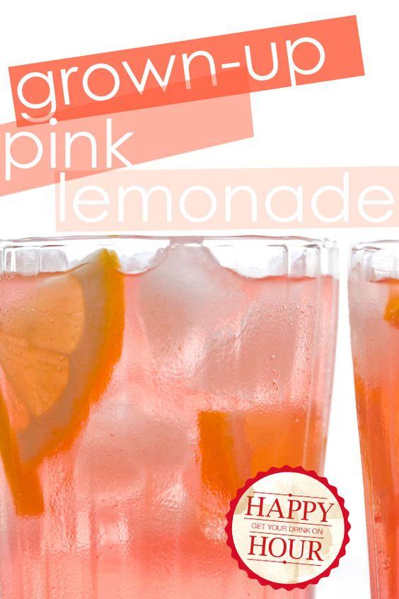 Grown-up Pink Lemonade
