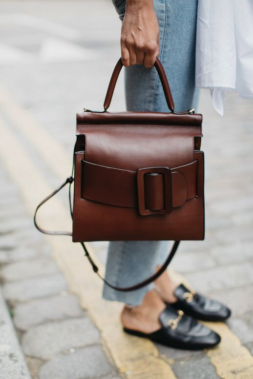 Brown buckle bag