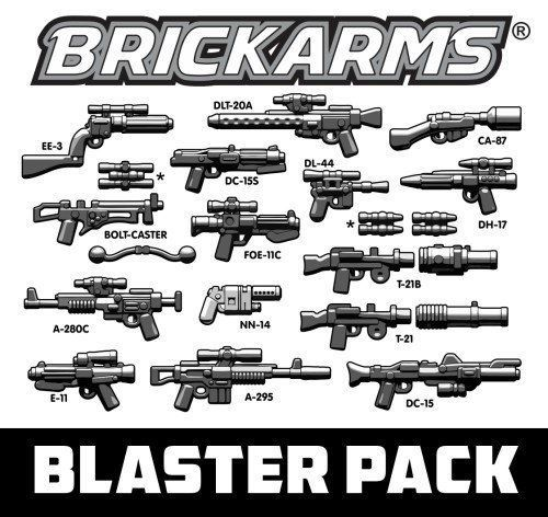 2 Lego Star Wars Blaster Weapon Accessories for Figures Weapon-Grey Guns Weapon NEW