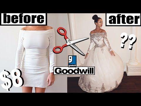 Diy Thrift Store Wedding Dress Makeover Youtube Tekstiilit