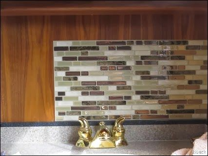karen and al changed the bathroom backsplash in their rv a look at