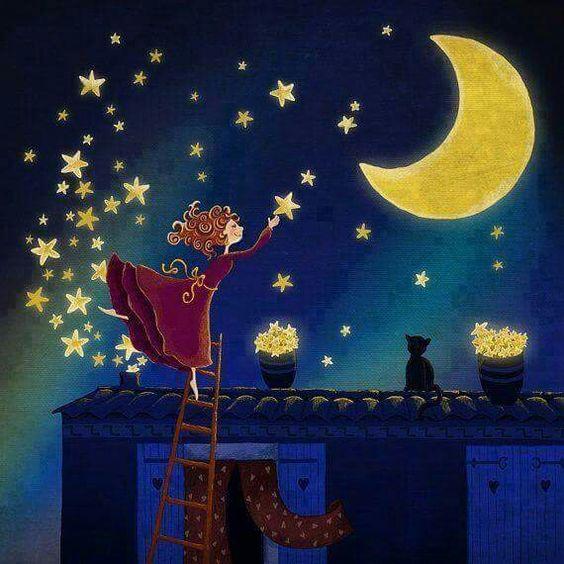 Iluminando la noche ❤