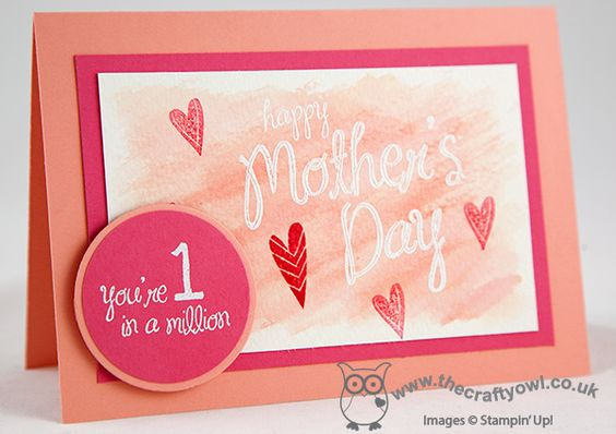 Happy Mother's Day FMS#125 My Mother, Heat Embossing, Emboss Resist, Joanne James UK Stampin' Up! Independent Demonstrator, blog.thecraftyowl.co.uk
