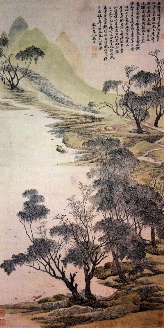 Spring on the lake by Wu Li (1631-1718), Chang-shu, China