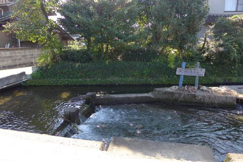 It  is  Akahoshiide,  an old waterway  for  田植え.