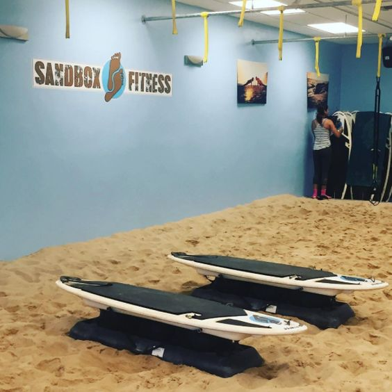 Life's a Beach! Just finished our first class at @sandbox_fitness and it was incredible! Such a great workout!: