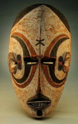 "ukpuru: "" Igbo mask, H. 25.4 cm (10""). Detroit Institute of Arts, Bequest of…"