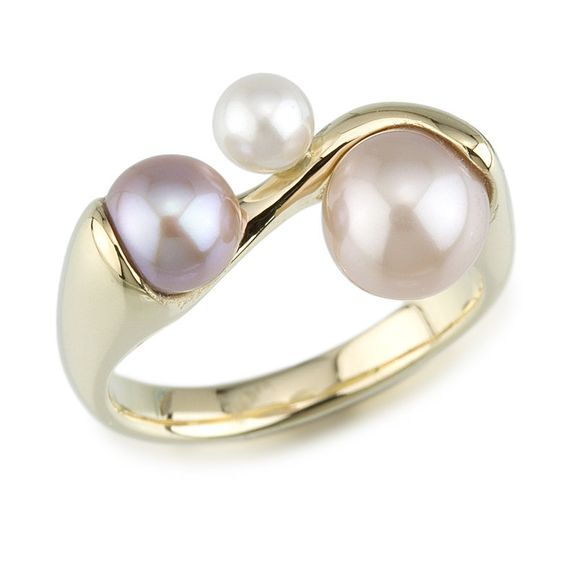 Pearl Ring: Alexan Cerna: Gold & Pearl Ring | Artful Home