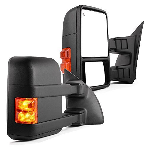 Ford Towing Mirrors For 1999 2007 Ford F250 F350 F450 F550 Super Duty Tow Mirrors Power Heated With Turn Signal Light Side Mirrors 1999 2000 2001 2002 2003 2004 Towing Mirrors F250 Ford F250