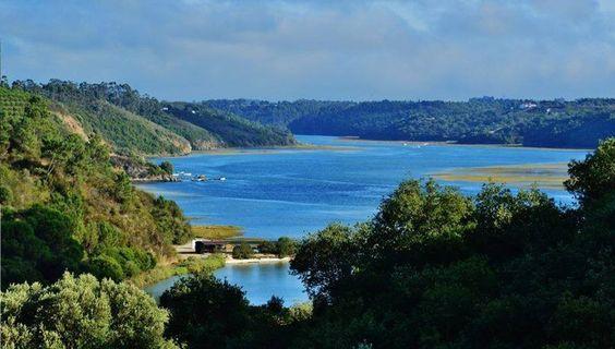 A montante de V. N. de Milfontes, quando o rio Mira parece um lago. By © Zeca Pt