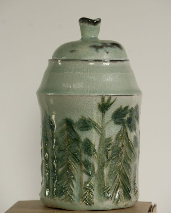 Maggie Keller, Soda fired forested covered jar