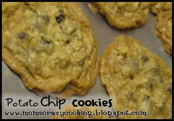 Potato Chip Cookies with Chocolate Chips