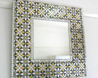 Pared hecha a mano mosaico espejo Art Deco por MirrorEnvy en Etsy