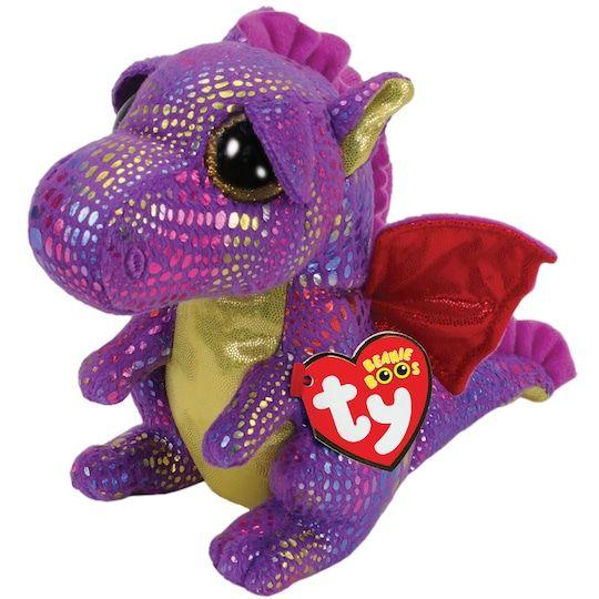 Ty Beanie Boos Spectra Purple Dragon Plush Toy Regular