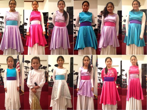Vestidos de danza cristiana