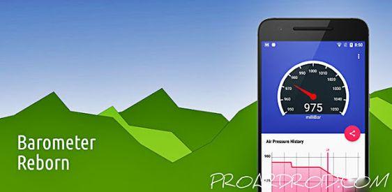 تحميل تطبيق Barometer Reborn لقياس الضغط الجوي نسخة كاملة للأندرويد مجانا مقياس بسيط وتعقب ضغط الغلاف الجوي يمكن لمراقبه الضغط الجوي تحس Barometer App Phone