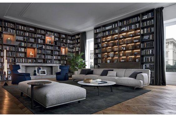 壁一面 本棚 ポリフォーム アクタス イタリア ブックシェルフ ウォールシステム