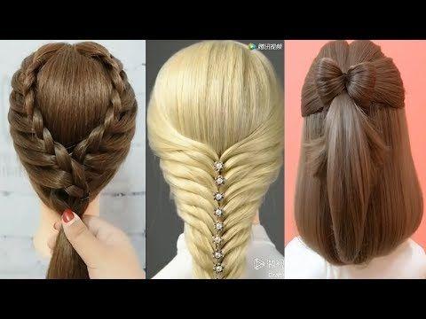 10 Peinados De Moda 2019 Peinados Faciles Y Rapidos Con Trenzas Peinados Cabello De Fiestas Youtube Girls Hairstyles Easy Hair Styles Princess Hairstyles