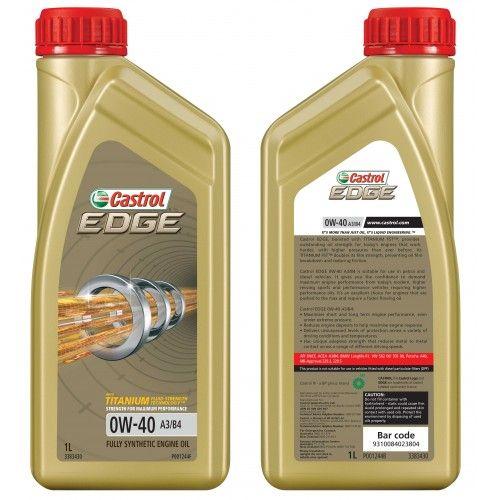 Castrol Edge Titanium Fst 0w40 A3 B4 1l Motorni Masla Boost Edges Oils Bp Oil