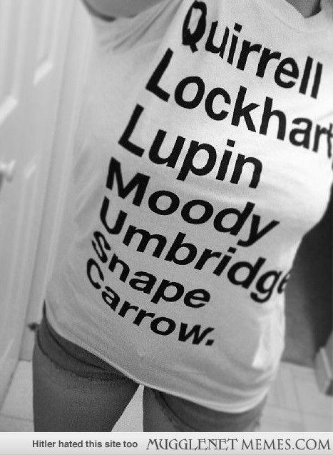 My new shirt, all the DADA professors.